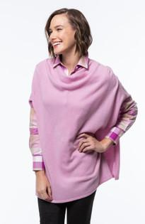 Cashmere Poncho- Pink Mallow
