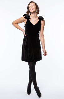 Penelope Dress- Black Velvet