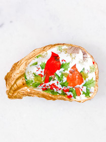 Oyster Shell- Christmas Cardinals