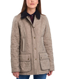 Beadnell Polarquilt Jacket- Taupe/Pearl