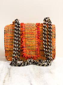 Small Greta Handbag- Orange Loom