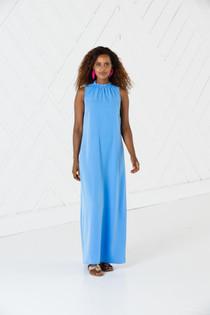 Ruffle Neck Maxi Dress- Marina