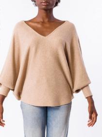RYU V-Neck Sweater- Light Camel