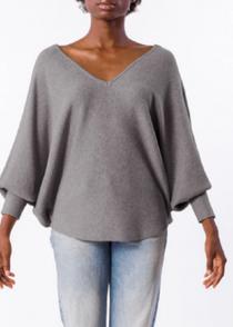 RYU V-Neck Sweater- Ash Grey