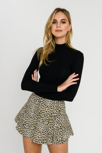 Leopard Ruffle Skort