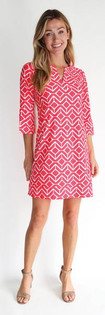 Megan Dress- Sail Geo Coral