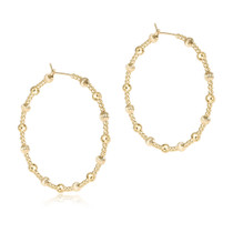 Beaded Hoop- Dignity & Sincerity Gold Beads