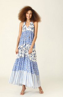 Sofia Long Dress- Provence Blue