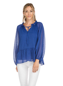 Tiered Top- Royal Blue