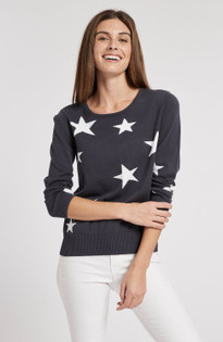 Navy + White Star Sweater- American Navy