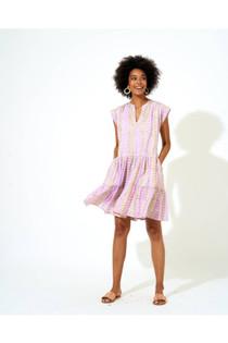 Roll Sleeve Dress- Lilac Sonoma