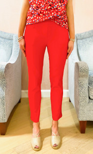 Pull On Ankle Pant- Lipstick
