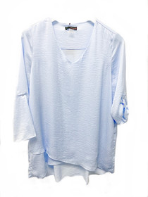 V-Neck Air Flow Top- Powder Blue