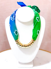 Bandana Necklace- Mermaid