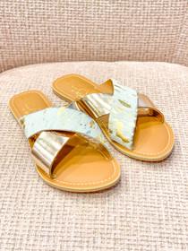 Pebble Slide Sandals- Gold Spot/Gold