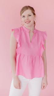 Brooks Top- Flamingo Pink