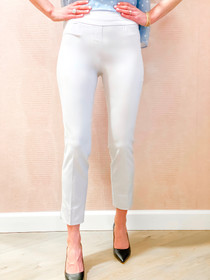 Pull On Ankle Pant- Silver