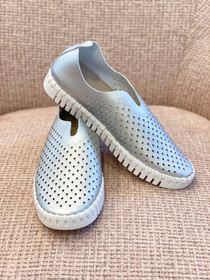 Tulip Slip-On Shoe- Silver