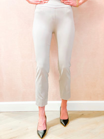 Pull On Ankle Pant- Stone