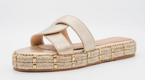Oia Infinity Sandal- Gold