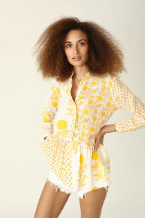 Chanderi Top- Nuni Sunshine Yellow