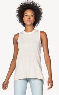 Sleeveless Shell Sweater- Oat