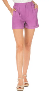Button Cuff Short- Purple
