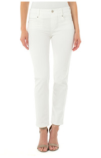 Gia Glider Slim Jean- Bright White