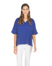 V-Neck Top- Royal Blue