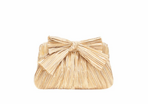 Pleated Frame Clutch with Bow