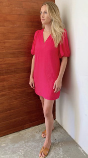 Haley Dress- Magenta
