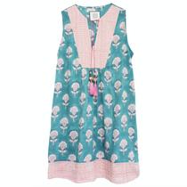 Sophie Dress- Aqua/Pink Floral