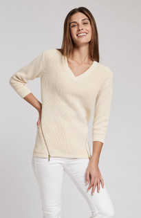 Mineral Wash Sweater- Oatmeal