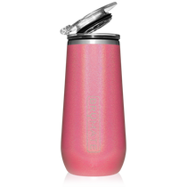 Champagne Flute- Glitter Pink