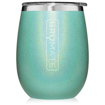 Uncork'd Wine Tumbler- Glitter Aqua Blue