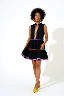 Yoke Dress- Black Cabo