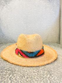 Mimi Kilim Band Raffia Hat- Multiple Colors