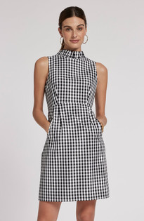 Erica Gingham Dress- Black/White