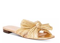 Daphne Knot Flat Sandal- Gold