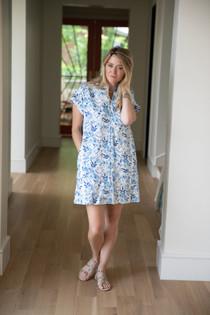 Nancy Dress- Blue Floral