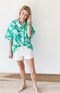 Tunic Top- Jade Floral
