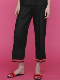 Sandra Black Linen Trouser