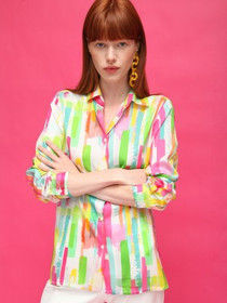 Dover Rainbow Silk Shirt