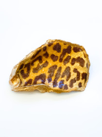 Oyster Shell- Leopard Print