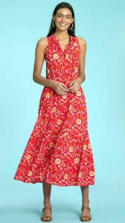 Ro Long Dress- Rouge Peacock Floral