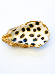 Oyster Shell- Black/Gold Animal Spot