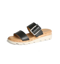 Woodstock Sandal- Black Saratoga Leather