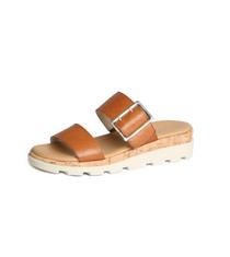 Woodstock Sandal- Cognac Saratoga Leather