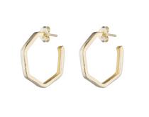 Lure Hoop Earrings- Gold