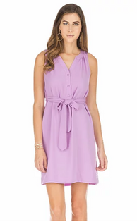 Tie Waist Dress- Lavender